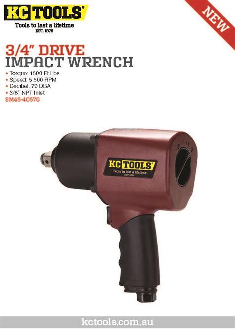 Air Impact 3 4 Tekiro 3 4 quot drive air impact wrench