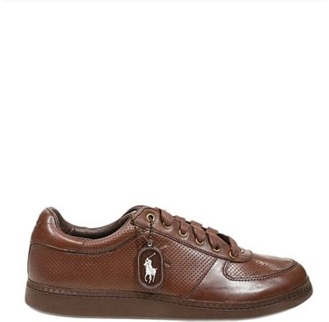 polo ralph shoes hernando sneakers leather in brown