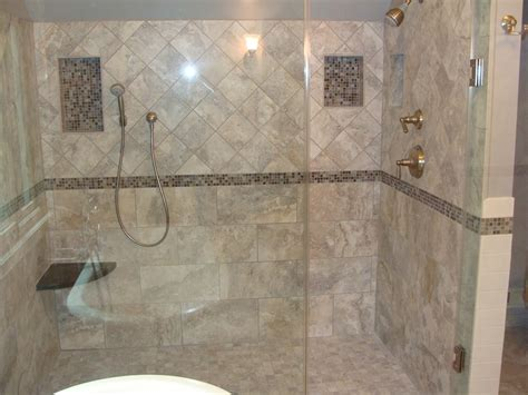 great picture of bathroom design and decoration using diagonal marble shower wall