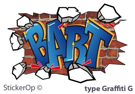 stickerop graffiti muursticker met eigen naam