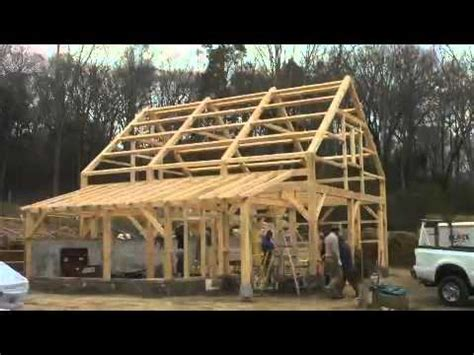 Small Chalet Home Plans by Five Month Time Lapse Post And Beam Barn In Lyme Youtube