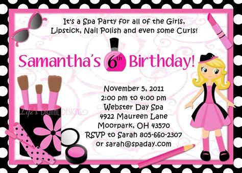 pretty party invitations girls birthday party invitations