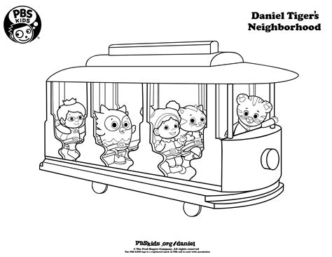 daniel tiger coloring pages daniel tiger birthday party