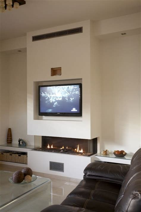 modern fireplace with tv above ask home design ortal usa clear 170 ts contemporary family room