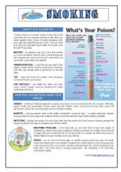 printable quiz about smoking english worksheet smoking