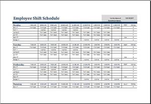 Employee Shift Scheduling Spreadsheet Excel Worksheets Amp Templates