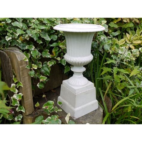 Small Home Urn White Urn With Base Small Swanky Interiors