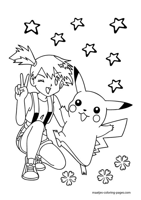 pokemon coloring pages misty misty pokemon coloring pages az coloring pages