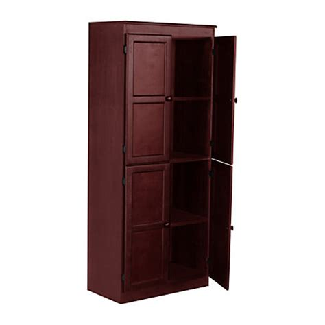 cherry wood storage cabinets with shelves concepts in wood storage cabinet 4 shelves cherry by