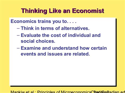 Chapter 2 Thinking Like An Economist Mba by Thinking Like An Economist Chapter 2 By G Mankew