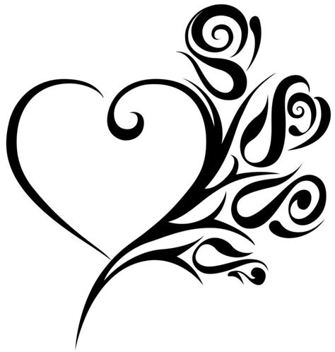 pretty heart tattoo designs 20 beautiful tribal tattoos only tribal