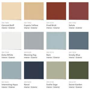 sherwin williams color palette sherwin williams pottery barn seasonal color palette