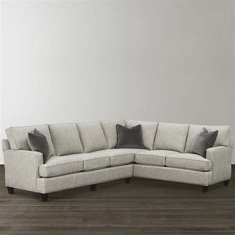 sectional l shaped couch natural medium l shaped sectional hgtv design center
