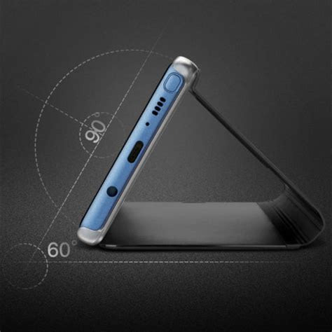 Clear View Cover Samsung J3 Pro for samsung galaxy j3 5 7 pro eu clear view mirror leather flip stand cover ebay