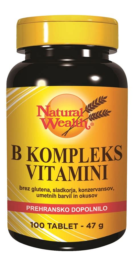 Vitamin B Kompleks Cair B Kompleks Vitamini Wealth 100 Tablet Prehran
