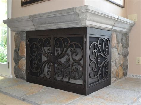 Fireplace Screens Atlanta by Ams Fireplace Doors Remodel Ideas Traditional Living