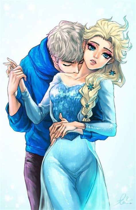imagenes de jack frost x elsa jack and elsa elsa the snow queen fan art 36800575