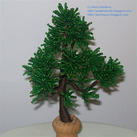 seed bead tree beading for the beginners pine tree