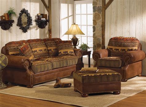 log home living room furniture wilderness trails queen sleeper
