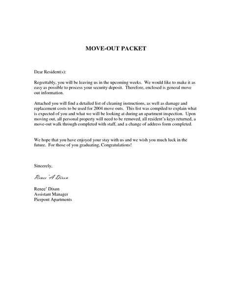 notice to landlord for moving out template best photos of move out notice letter sle sle