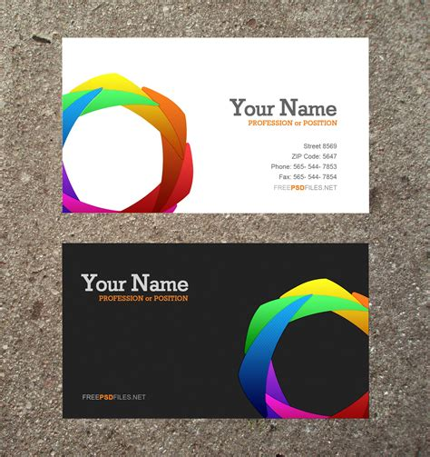 visiting card templates free software 10 modern business card psd template free images free