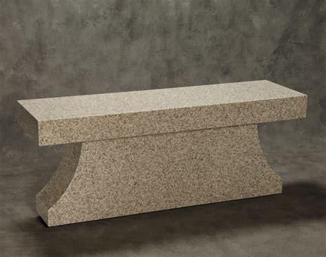 bench pedestal roquemore marble and granite pedestal bench