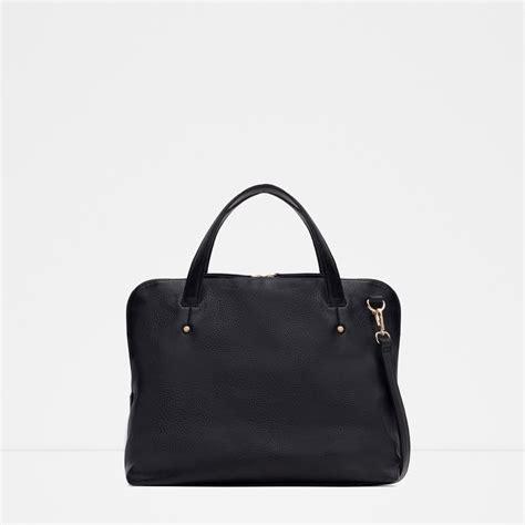 Zara Bag Black zara soft city bag in black lyst