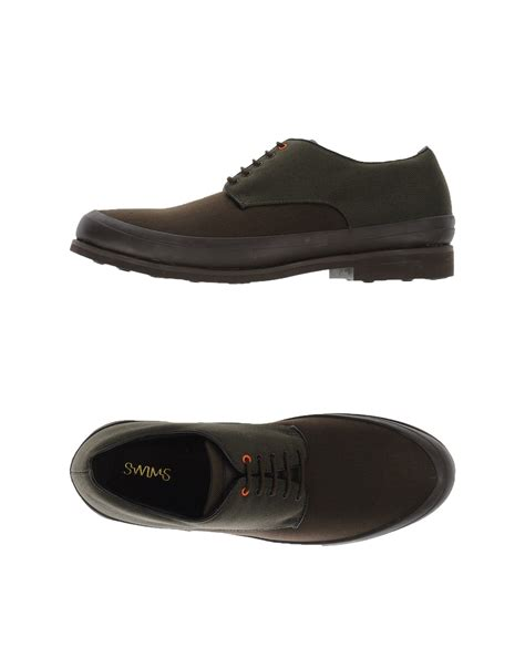 swims shoes lyst swims lace up shoes in brown for