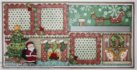 double layout scrapbook pages night before christmas 12 x12 double page scrapbook layout