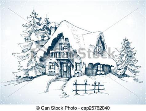 comic clip über zwei weihnachtsbäume idyllisch winter haus schnee b 228 ume landschaftsbild kiefer