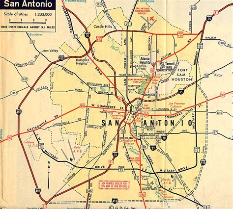 map of san antonio texas area san antonio map highway