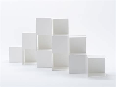 square bookshelves by nendo spoon tamago