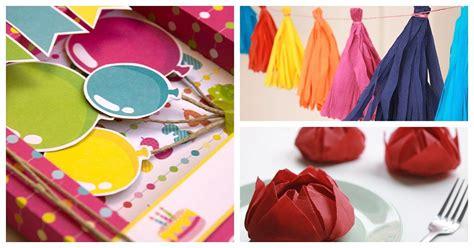 como hacer cadenas de papel crepe de tres colores ideas para cumplea 241 os manualidades