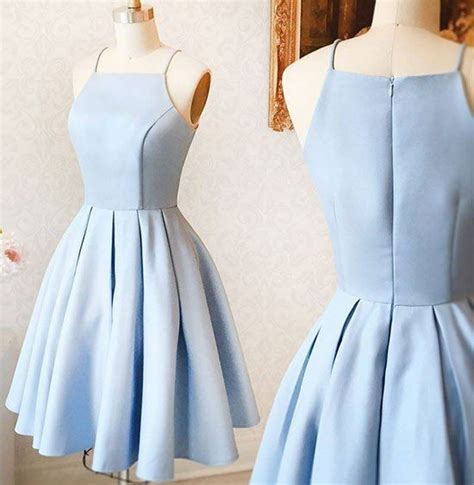light blue spaghetti prom dress simple spaghetti straps light blue prom dress cheap