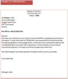 collections letter template business communication degree solutions exle of