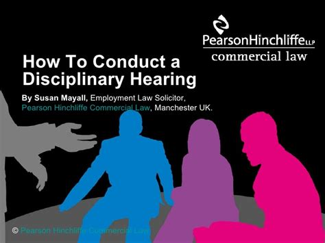 how to a hearing how to conduct a disciplinary hearing referencing the acas code of c