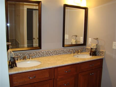 bathroom vanity tops  backsplashes