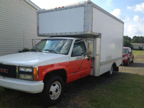 1994 gmc 3500 box truck u haul type bed with r runs