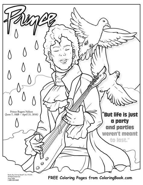 Coloring Books Prince Free Online Coloring Page A Coloring Book