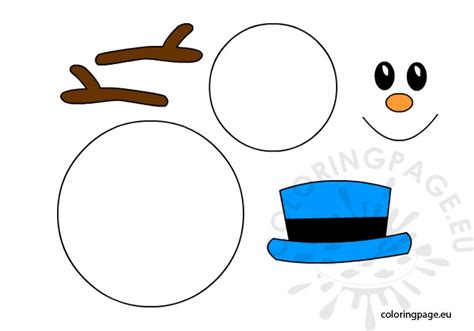 search results for printable snowman template page 2