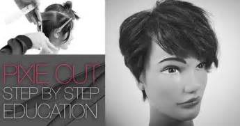step by step for shag haircut how to cut the tyra banks pixie haircut step by step q