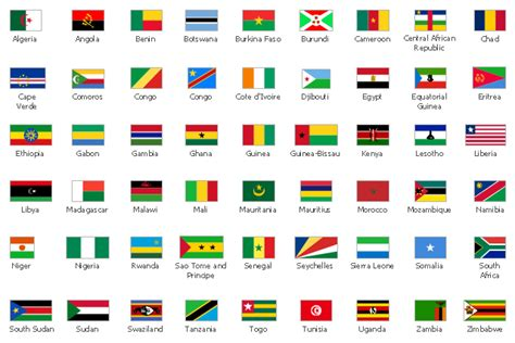 african countries flags design elements african country flags