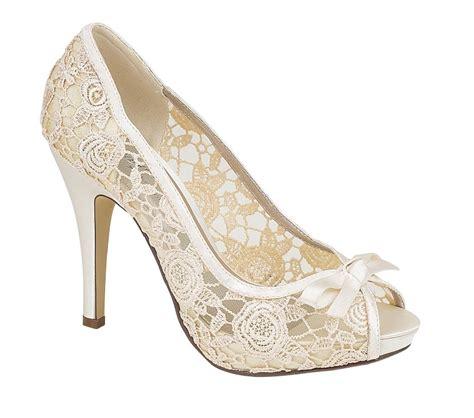 lace ivory wedding shoes womens ivory lace evening wedding prom peep toe