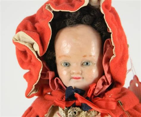 two faced composition doll wax composition two faced doll german circa 1860