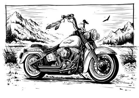 Motorrad Chopper Zeichnung by Harley Davidson Bikers Choice Bike Art Pinterest