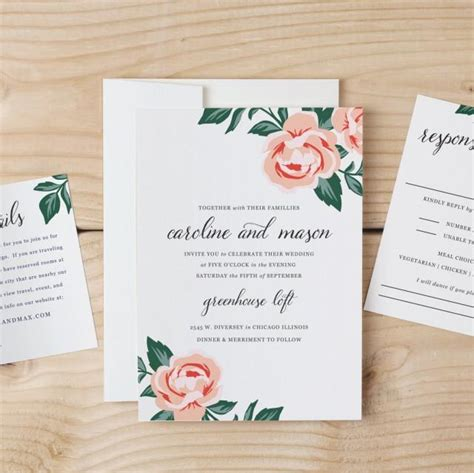 Diy Wedding Invitation Template Colorful Floral Word Or Pages Mac Or Pc Change The Colors Invitation Template Mac
