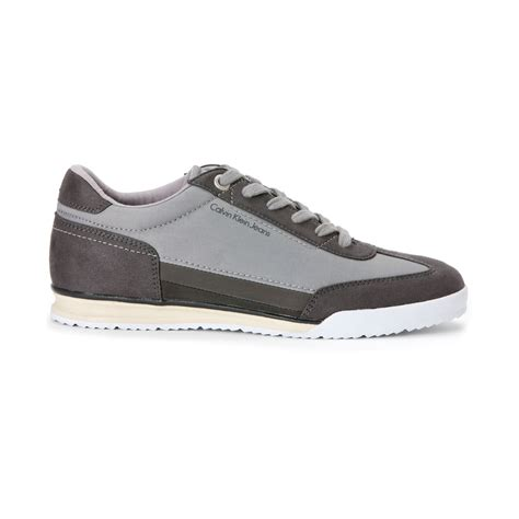 calvin klein sneakers mens calvin klein ruben sneakers in gray for lyst