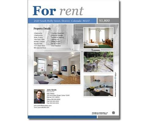 Classic For Rent Flyer Leasing Flyer Templates
