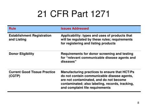 ppt fda basics tissue safety powerpoint presentation