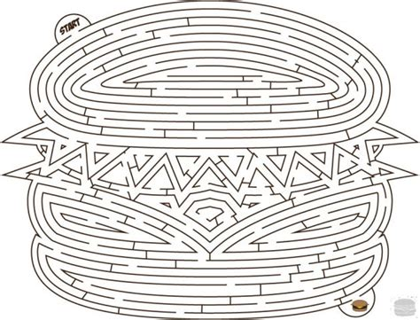 printable hamburger maze 17 best images about mazes word puzzles on pinterest